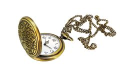 Pocket watch on chain with open lid royalty free stock photography