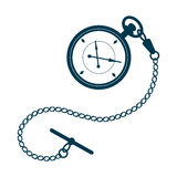Pocket watch with chain. Stock Images