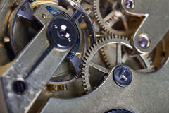 Pocket watch clockwork Stock Photography
