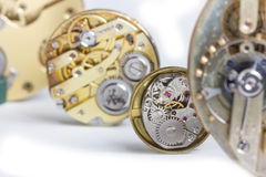 Pocket watch clockworks Stock Image