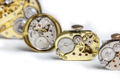 Pocket watch clockworks Royalty Free Stock Photo