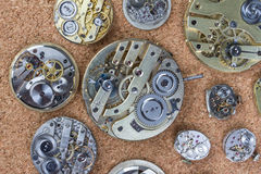 Pocket watch clockworks Royalty Free Stock Image