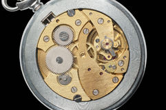 Pocket-watch closeup. Stock Images