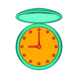 Pocket watch with cover icon, cartoon style Royalty Free Stock Photos