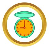 Pocket watch with cover vector icon, cartoon style Royalty Free Stock Image