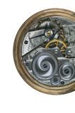 Pocket Watch Gearing Stock Images
