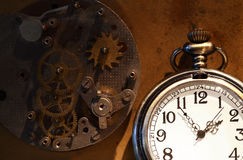 Pocket Watch And Gears Stock Images