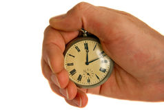 Pocket Watch In Hand Royalty Free Stock Image