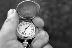 Pocket Watch In Hand Stock Image