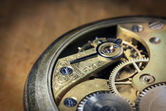 Pocket watch inside close Royalty Free Stock Photos