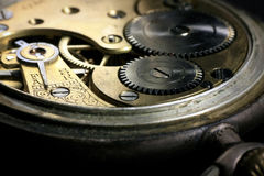 Pocket watch inside with wheels and springs Stock Photo