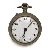 Pocket watch (isolated with clipping path) Stock Photos