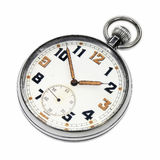 Vintage swiss pocket watch isolated Royalty Free Stock Photos