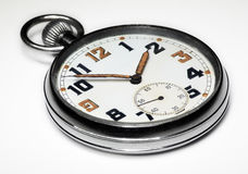 Vintage swiss pocket watch isolated Royalty Free Stock Photography