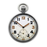 Vintage swiss pocket watch isolated Stock Photo