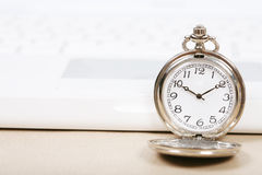 Pocket watch with keyboard Royalty Free Stock Image