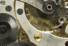 Pocket watch mechanism Royalty Free Stock Photography