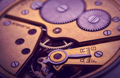 Pocket watch mechanism Stock Image