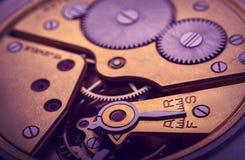 Pocket watch mechanism Stock Image