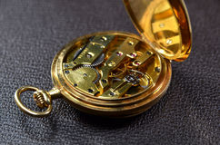 Pocket watch mechanism Royalty Free Stock Images