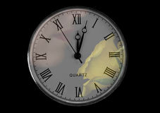 Pocket watch with nose Royalty Free Stock Photos