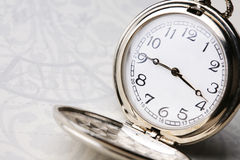 Pocket watch with  notebook Stock Image