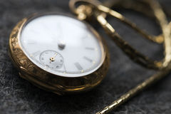 beautiful vintage golden pocket watch Royalty Free Stock Images