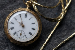 Beautiful vintage golden pocket watch Stock Photos