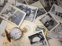 Pocket watch with old photographs Royalty Free Stock Photo