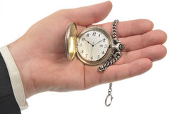 Pocket Watch on the palm Stock Photography