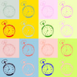 Pocket watch pop art style Royalty Free Stock Images