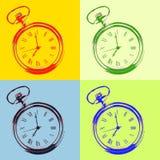 Pocket watch pop art style Stock Image