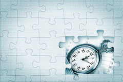 Pocket watch puzzle. Time Concept. Pocket watch puzzle with missing pieces Stock Images