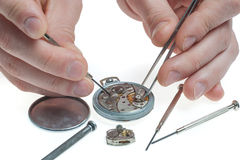 Pocket watch repair Royalty Free Stock Photo