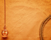 Pocket watch and rope Royalty Free Stock Images