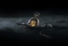 Pocket Watch in Sand Royalty Free Stock Photo