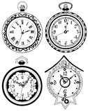 Pocket watch set Royalty Free Stock Photos