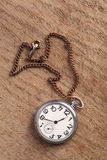 Pocket watch on table Stock Image