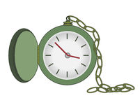 Pocket Watch. Vector Illustration of Pocket Watch With Chain Stock Images