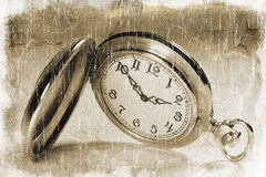 Pocket watch (vintage style) Stock Photography