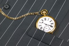 Pocket watch and waistcoat Royalty Free Stock Photo