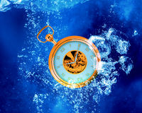 Pocket Watch in water Stock Images