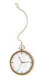 Pocket watch on white Stock Photography
