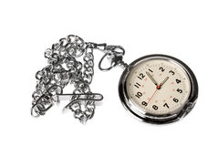 Pocket watch on white background Royalty Free Stock Photos
