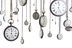 Pocket watches on chain isolated Royalty Free Stock Photo