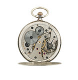 Pocket watches mechanic isolated. Royalty Free Stock Images