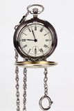 Pocket watches old. Old pocket watch on a white background Royalty Free Stock Image