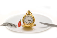 Pocket watches on a plate Stock Images