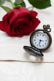 Pocket Watches and Rose Stock Photo