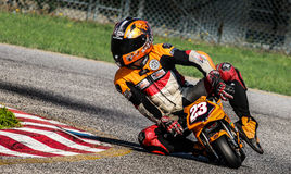 Pocketbike racing stock photo